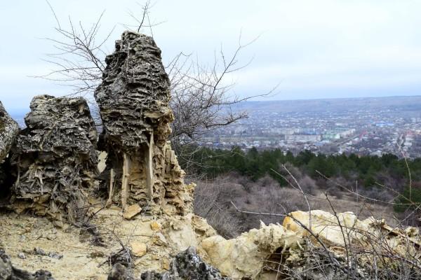 Песчаные конкреции на горе Куцай