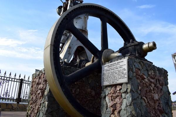 Фрагмент нефтяного двигателя